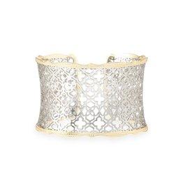 Kendra Scott Kendra Scott Candice Cuff in Silver Filigree on Gold
