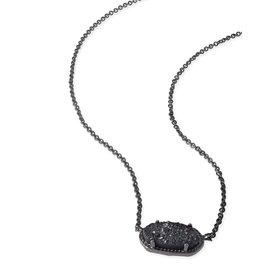 Kendra Scott Kendra Scott Elisa Necklace Gunmetal Black Drusy