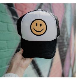 Smiley Hat White & Black