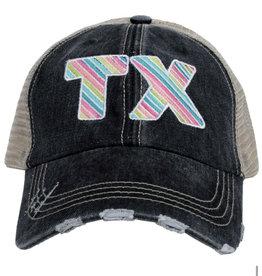 TX Multi Stripe Embroidered Hat