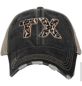 TX Leopard Embroidered Hat