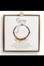 the Giving Red Heart Charm Bracelet