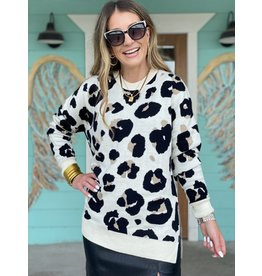 Off White Leopard Sweater