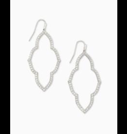 Kendra Scott Abbie Open Frame Earring Silver