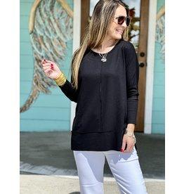 Spanx PLT Dolman Sweatshirt Very Black