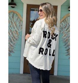 Rock & Roll Shirt Jacket in White