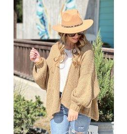 Camel Sweater Cardigan