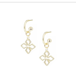 Natalie Wood Grace Mini Huggie Earring Gold