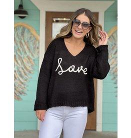 Love Sweater in Black