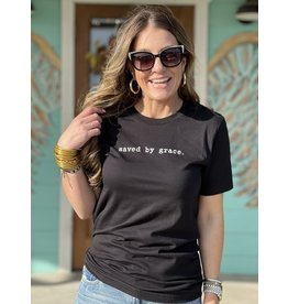 Saved by Grace Tee in Black