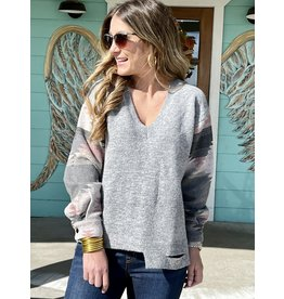 Grey w/Aztec Sleeve