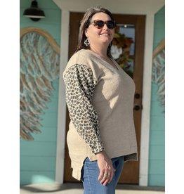 Natural & Leopard Plus Sweater