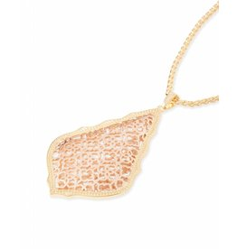 Kendra Scott Kendra Scott Aiden Necklace Rose Gold Filigree Mix