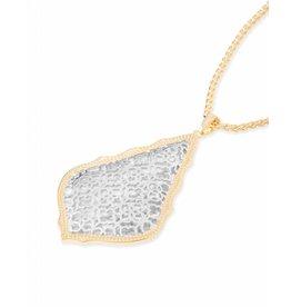Kendra Scott Kendra Scott Aiden Necklace Silver Filigree Mix