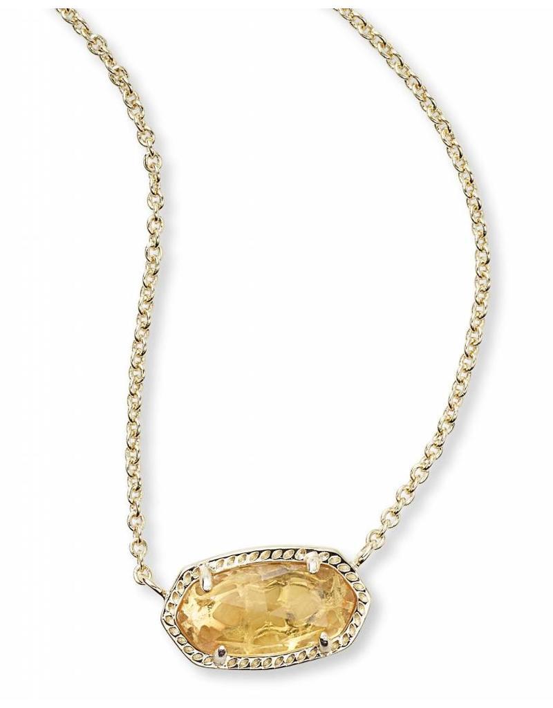 Kendra Scott Kendra Scott Elisa Necklace Gold Orange Citrine (Nov.)