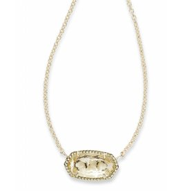 Kendra Scott Kendra Scott Elisa Necklace Gold Crystal Clear (Apr.)