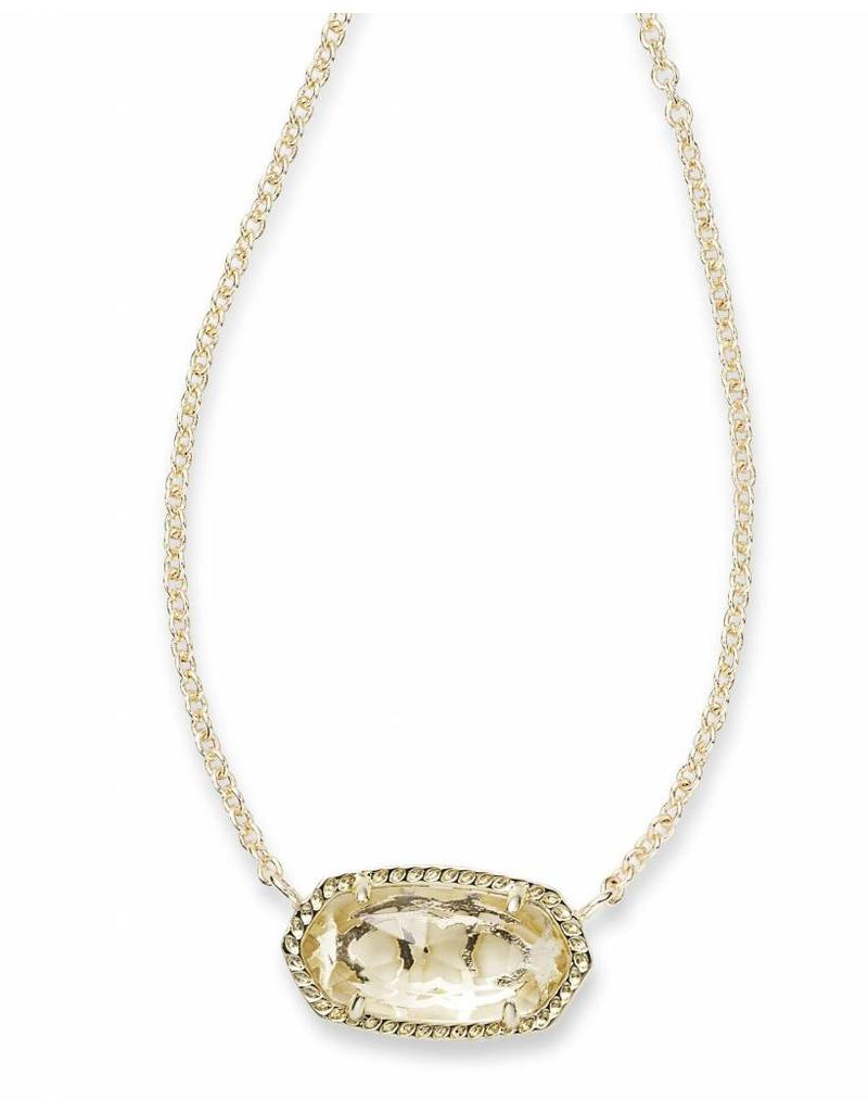 Kendra Scott Kendra Scott Elisa Necklace Gold Crystal Clear (Apr.)