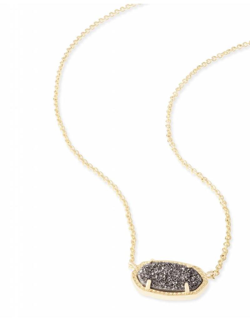 Kendra Scott Kendra Scott Elisa Necklace in Platinum Drusy on Gold