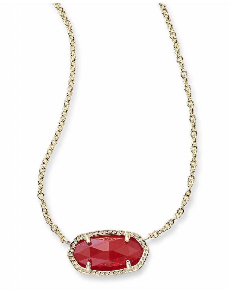 Kendra Scott Kendra Scott Elisa Necklace in Ruby on Gold (July)