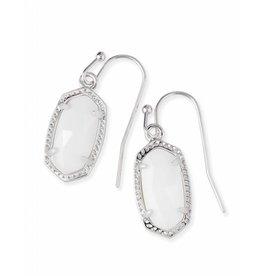 Kendra Scott Lee Earrings in White Pearl on Silver