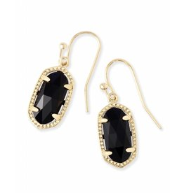 Kendra Scott Lee Earrings in Black on Gold