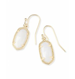 Kendra Scott Lee Earrings in White Pearl on Gold