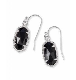 Kendra Scott Lee Earrings in Black on Silver