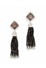 Kendra Scott Kendra Scott Misha Clip On Statement Earring Black Pearl