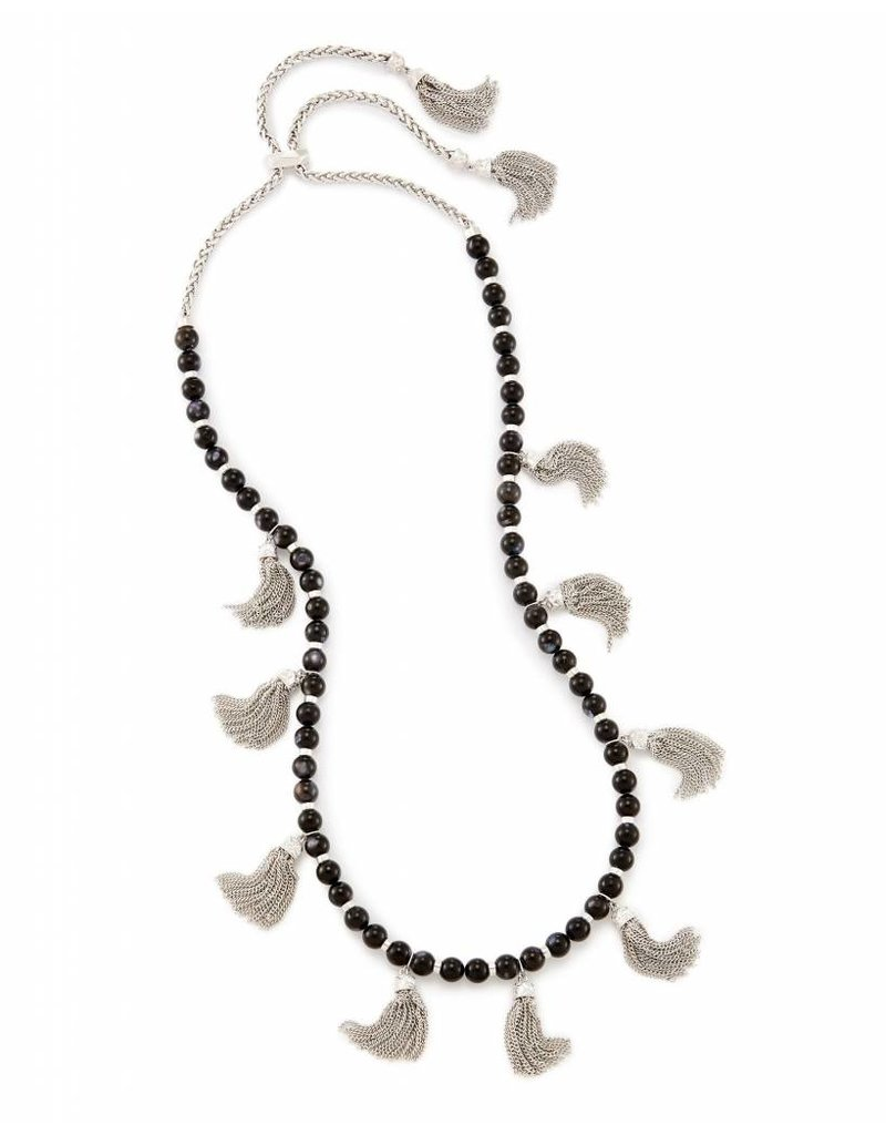 Kendra Scott Kendra Scott Vanina Long Necklace in Black Pearl