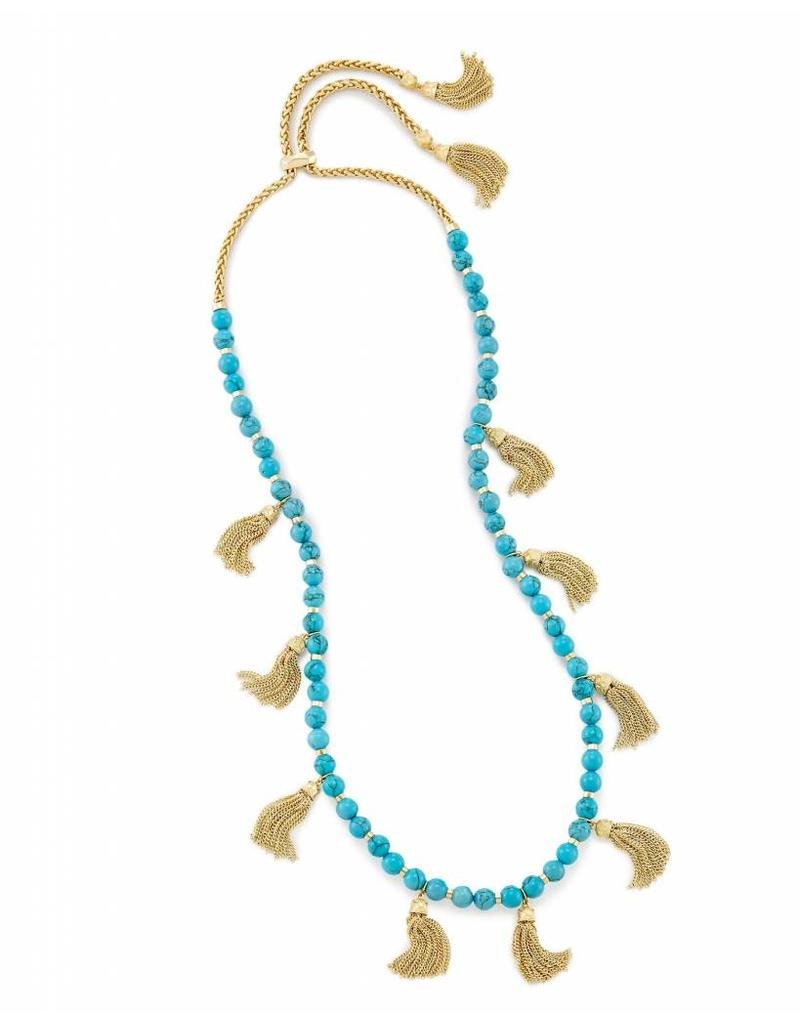 Kendra Scott Kendra Scott Vanina Long Necklace in Bronze Veined Turquoise