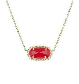 Kendra Scott Kendra Scott Elisa Necklace Gold Bright Red