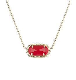 Kendra Scott Kendra Scott Elisa Necklace Gold Red