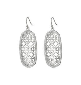 Kendra Scott Kendra Scott Elle Earrings in Silver Filigree on Silver