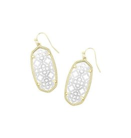 Kendra Scott Kendra Scott Elle Earrings in Silver on Gold Filigree