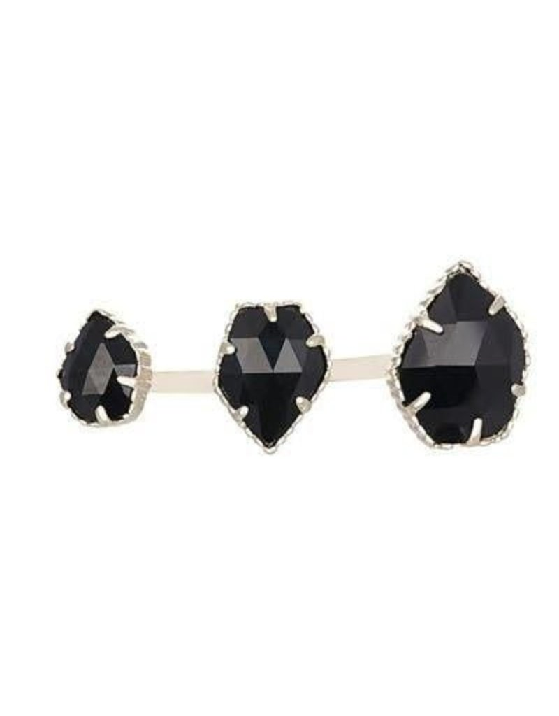 Kendra Scott Kendra Scott Naomi Double Ring in Black (M/L)