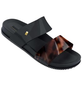 Melissa Cosmic Sandals- Black/ Tortoise