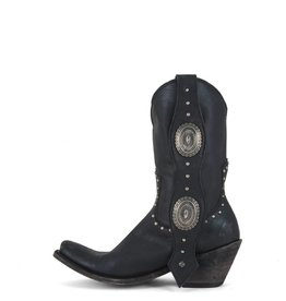 Liberty Black Black Conch & Stud Boots