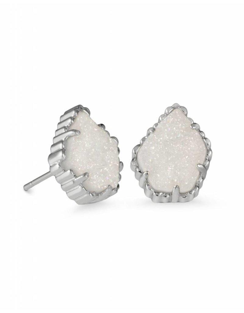 Kendra Scott Kendra Scott Tessa Earring Silver Iridescent Drusy