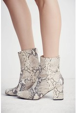 Free People Cecile Ankle Boot in Tan Snake