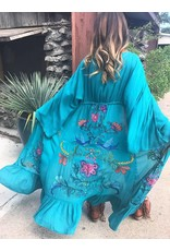 Jade Embroidered Duster