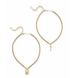 Kendra Scott Sunny Necklace in Metallic Gold Leather