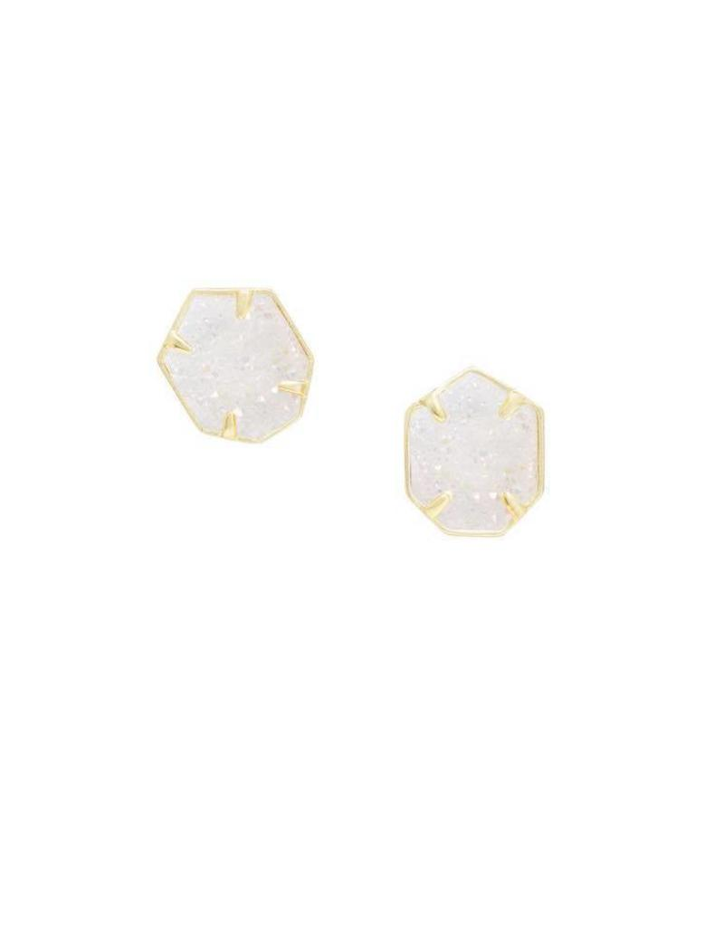 Kendra Scott Taylor Earring Gold Iridescent Drusy
