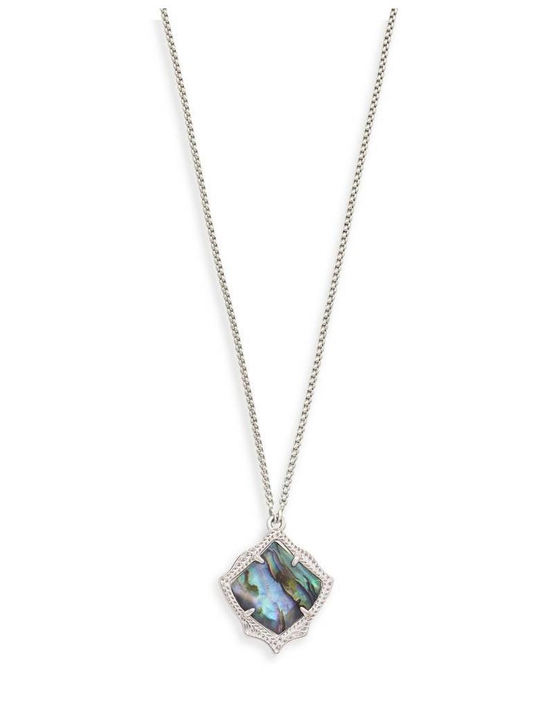 Kendra Scott Kendra Scott Kacey Necklace Silver Abalone Shell