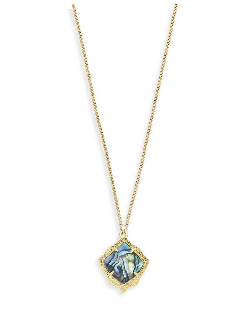 Kendra Scott Kendra Scott Kacey Necklace Gold Abalone Shell