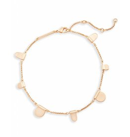 Kendra Scott Kendra Scott Tabi Anklet in Rose Gold