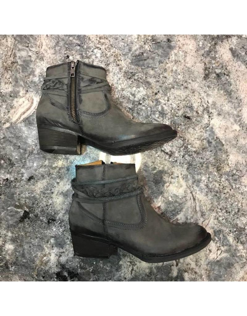 Circle G Grey Top Strappy Bootie