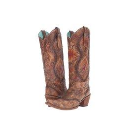 Corral Corral Cognac Multicolor Aztec Boots- C2872