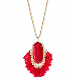 Kendra Scott Kendra Scott Betsy Necklace in Gold Red MOP