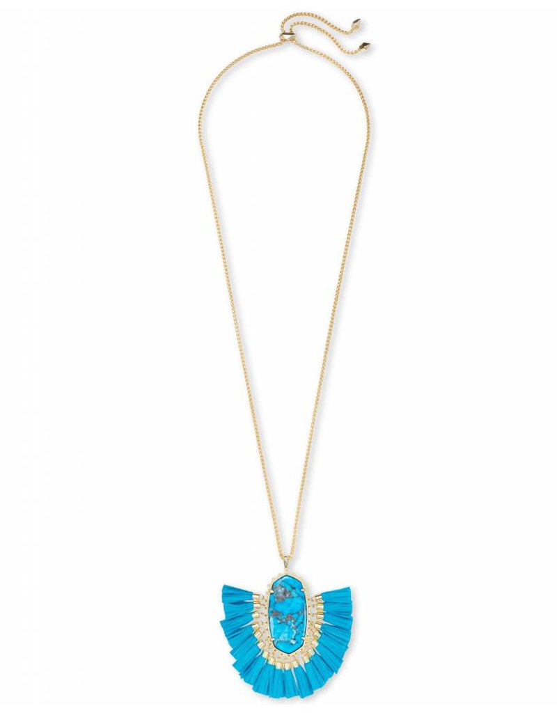 Kendra Scott Kendra Scott Betsy Necklace in Gold Aqua Howlite