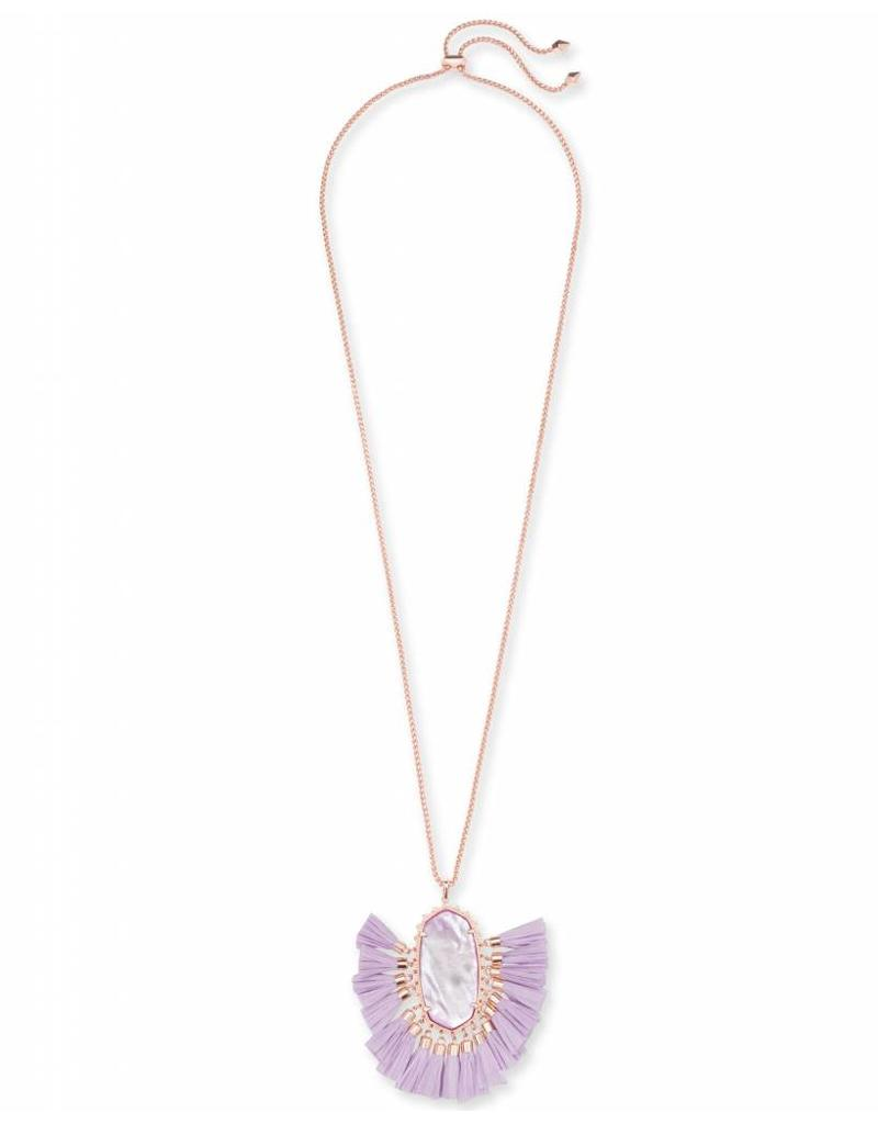 Kendra Scott Kendra Scott Betsy Necklace in Rose GOld Lilac MOP